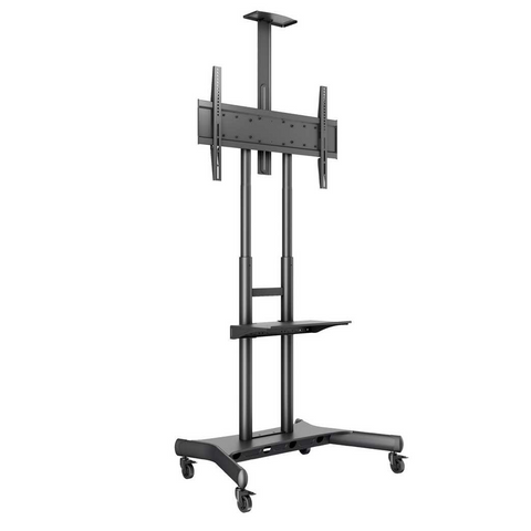Public Floorstand Basic 180 including shelf & camera holder, 55''-80''