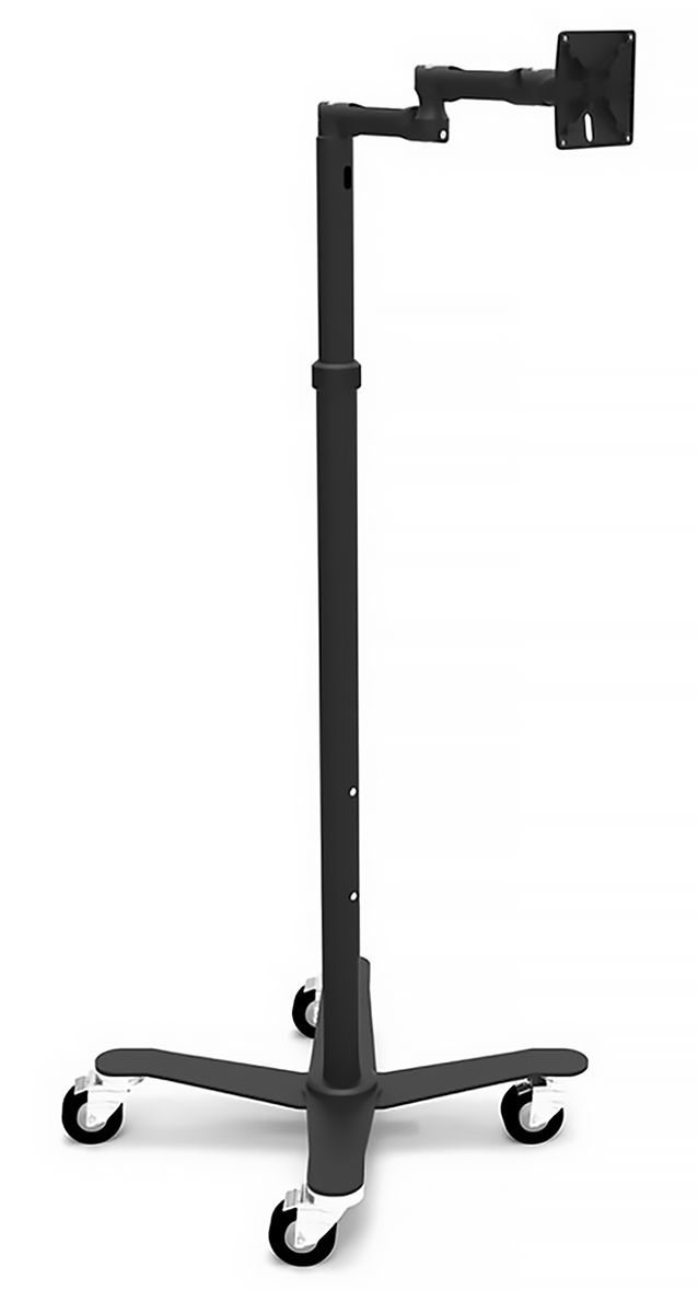 Rise Freedom Extended - VESA Articulating Arm Rolling Cart