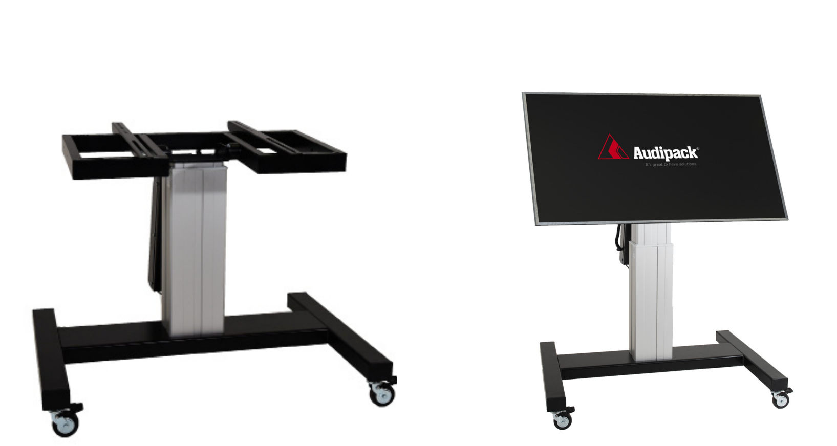 Audipack Trolley stand for touch screens up to 150 Kg motorized