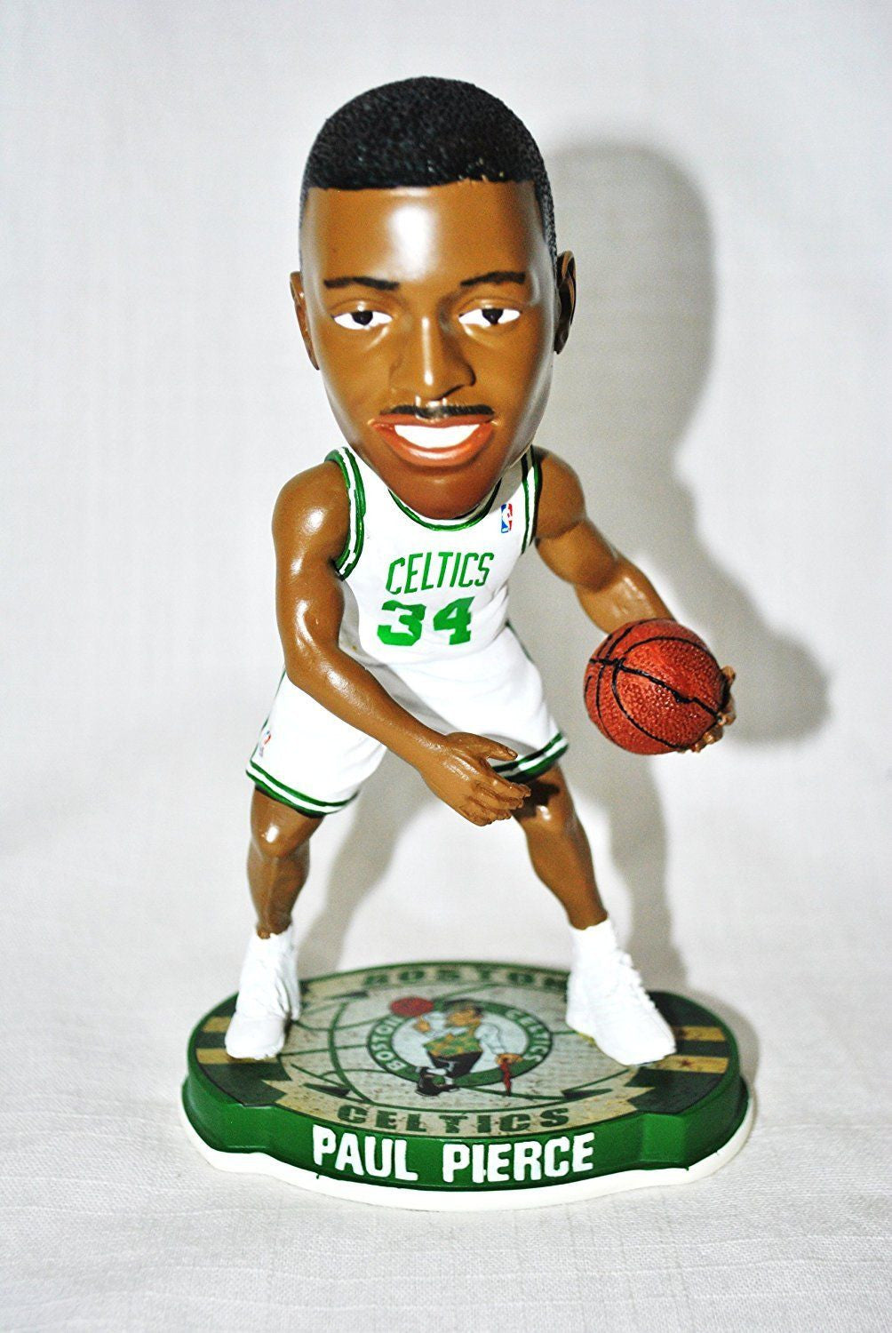 bc07ab13787 Forever Collectibles Boston Celtics Paul Pierce  34 official NBA Home  (white jersey) Bobblehead