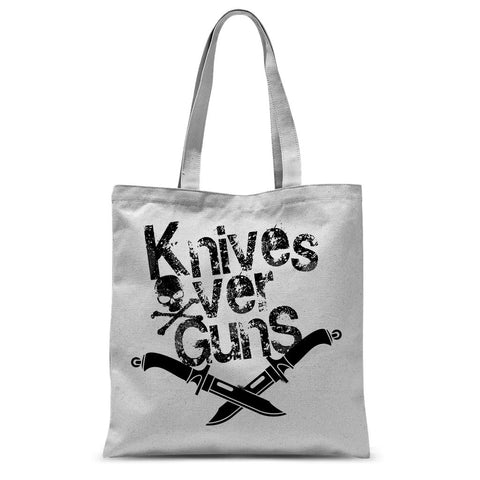 Knives Over Guns Sublimation Tote Bag - That Tech Shop