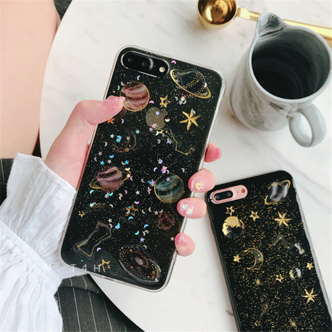 Glitter Space Phone Case