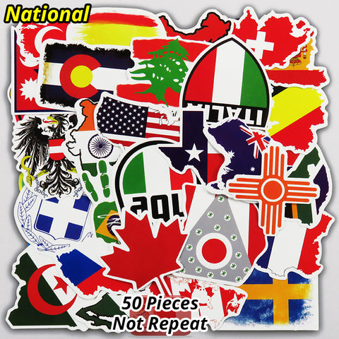 Flag/Travel Sticker Pack (50 pcs) - That Tech Shop