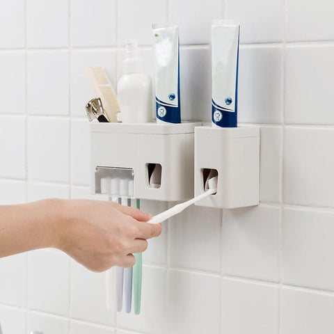 Toothpaste/Toothbrush dispenser&holder - That Tech Shop