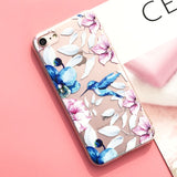 Floral Silicone case for iPhone