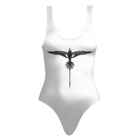 Bermuda Longtail One Piece Swimsuit in White