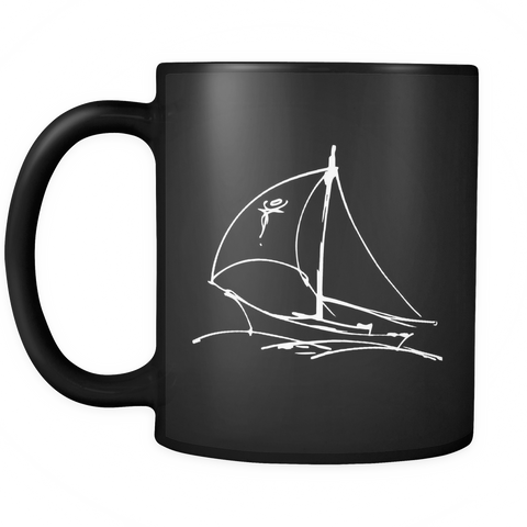 Sails Out At Sea Black Coffee Mug for $0.13 at Feel The Sea Sailing