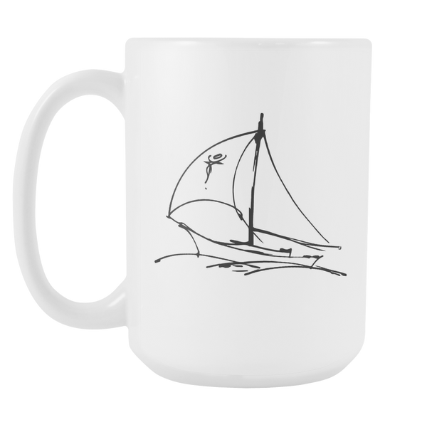 Large Sails Out at Sea Coffee Mug for $0.15 at Feel The Sea Sailing