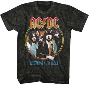 HIGHWAY TO HELL TRICOLOR MENS TEE
