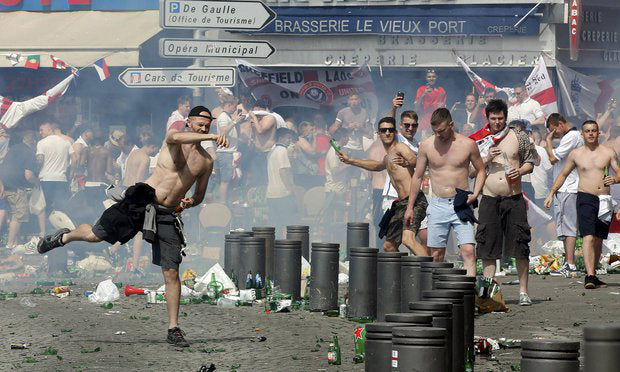 England World Cup hooligans to be banged up with 'killers and paedos'