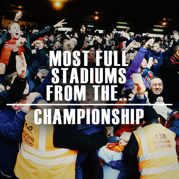 The top 8 Championship clubs, based on how full their grounds are...