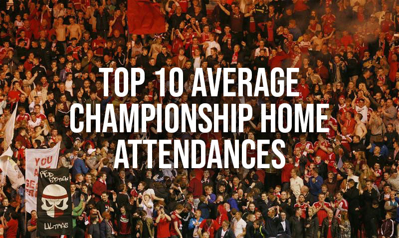 Top 10 average home Championship attendances this season