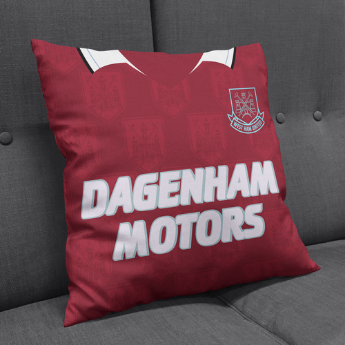 West Ham United 1993 Kit Cushion-Cushions-The Terrace Store