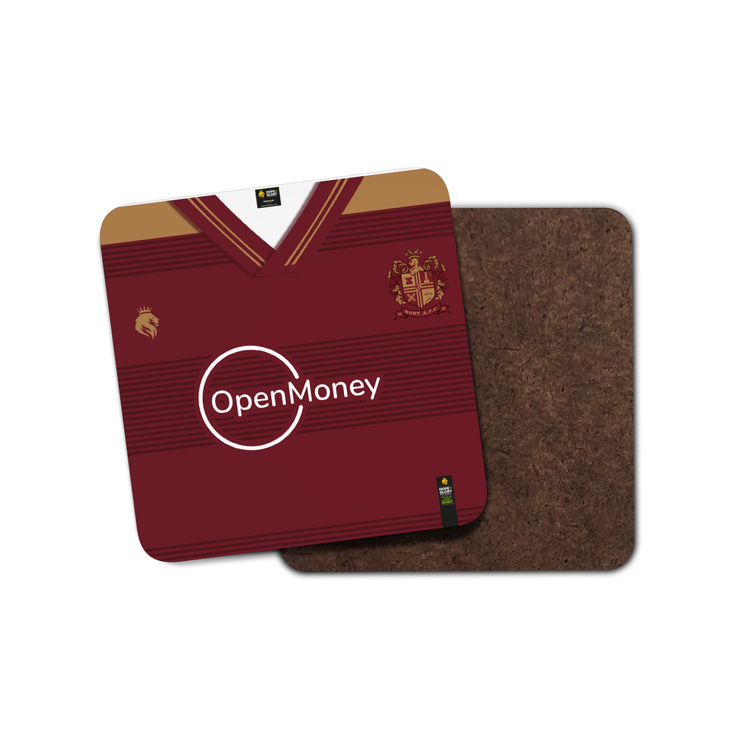 Bury AFC '21 Away Kit Coaster