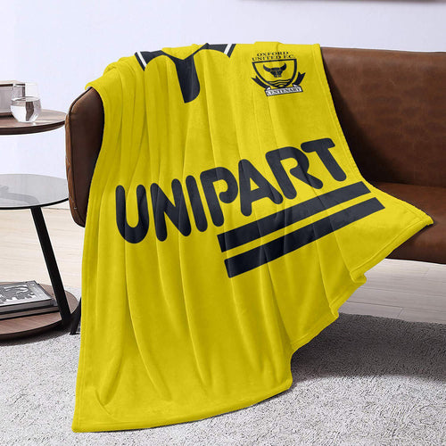 Oxford United 1993 Home Blanket Throw-Blanket-The Terrace Store