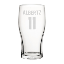 Load image into Gallery viewer, Rangers Albertz 11 Engraved Pint Glass-Engraved-The Terrace Store