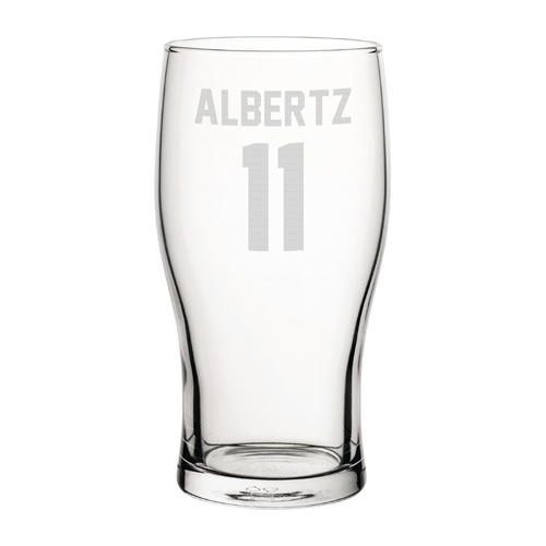 Rangers Albertz 11 Engraved Pint Glass