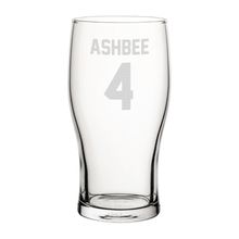 Load image into Gallery viewer, Hull Ashbee 4 Engraved Pint Glass
