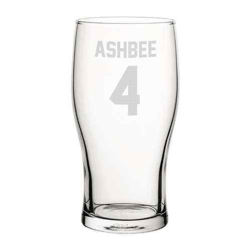 Hull Ashbee 4 Engraved Pint Glass