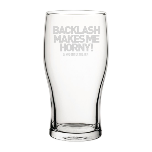 Backlash Engraved Pint Glass