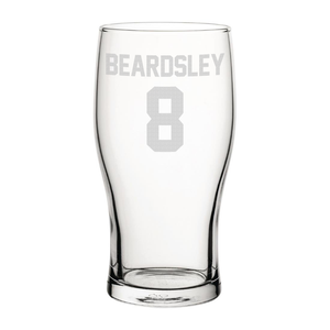 Newcastle Beardsley 8 Engraved Pint Glass-Engraved-The Terrace Store
