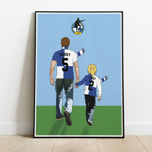 Bristol Rovers Hand In Hand Dad Print