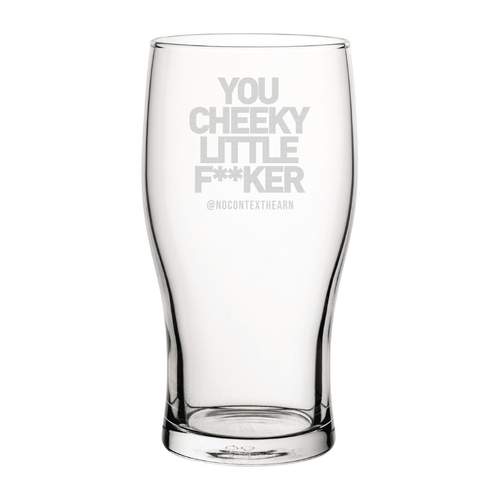 Cheeky Little Engraved Pint Glass