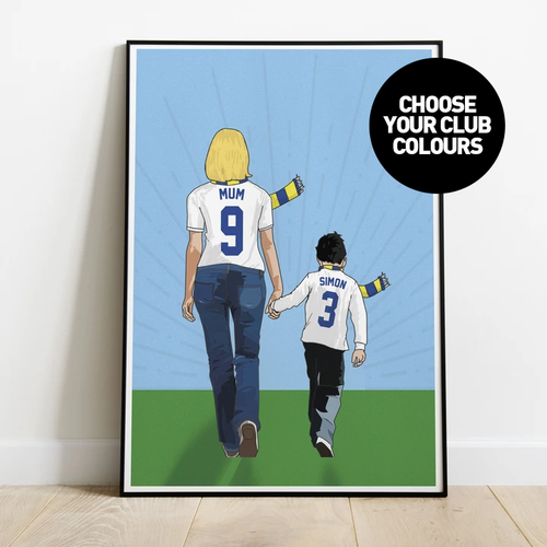 Hand In Hand Mum Print - Choose Your Club
