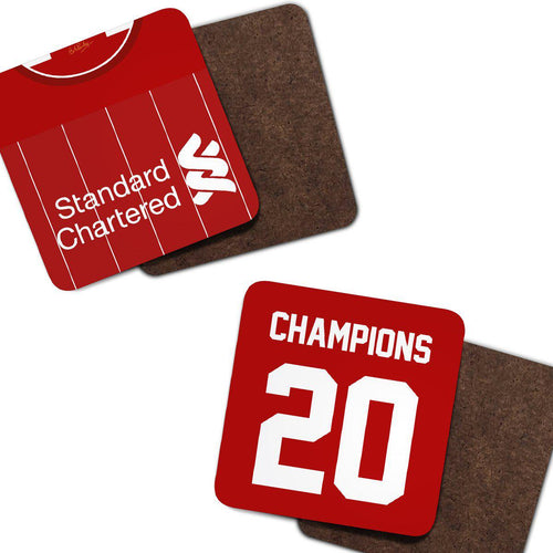 Liverpool 2020 Champions Kit Coaster Pack