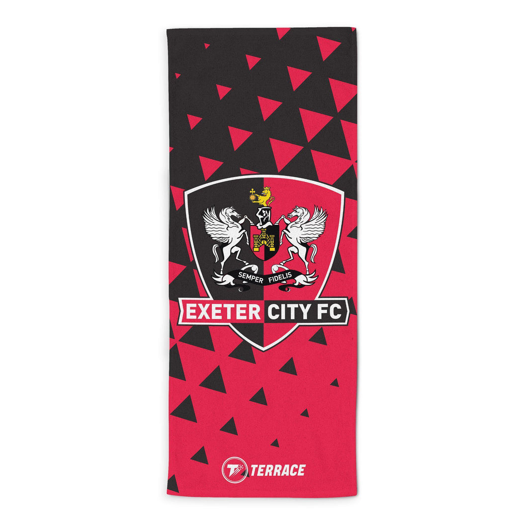 Exeter City Club Badge Beach Towel-Towels-The Terrace Store