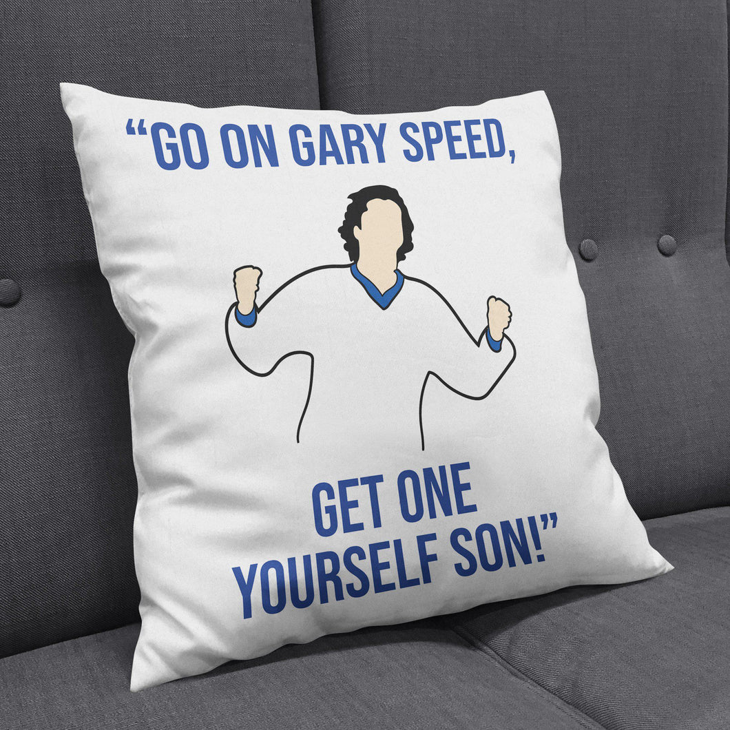 Leeds Burley Banksy Gary Speed Cushion-Cushions-The Terrace Store