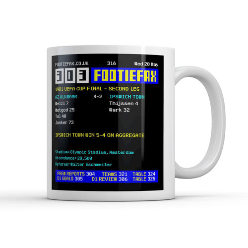 Ipswich 1981 Leg 2 Footie Fax Mug-Mugs-The Terrace Store