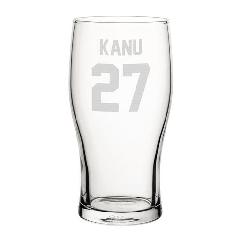 Portsmouth Kanu 27 Engraved Pint Glass-Engraved-The Terrace Store
