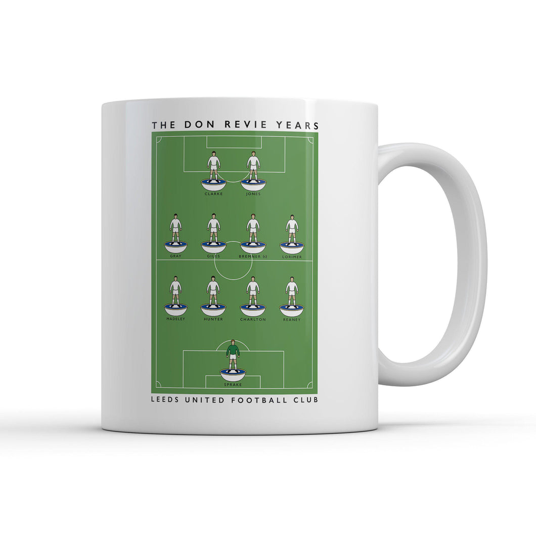 Leeds Don Revie Years Mug-Legends Mug-The Terrace Store
