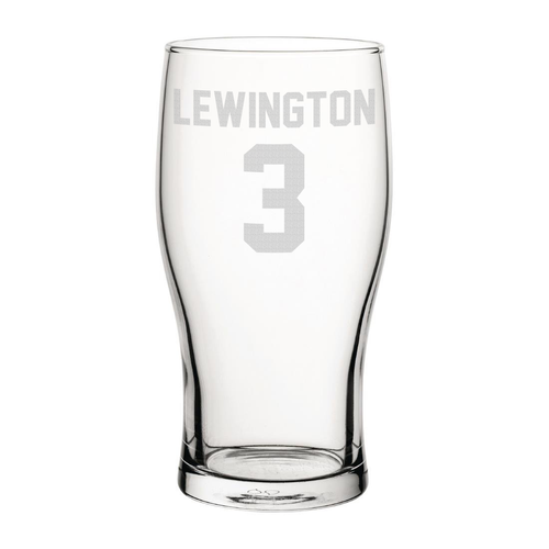 MK Dons Lewington 3 Engraved Pint Glass-Engraved-The Terrace Store