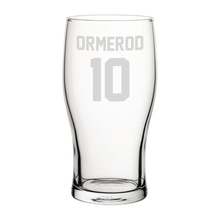 Load image into Gallery viewer, Blackpool Ormerod 10 Engraved Pint Glass-Engraved-The Terrace Store