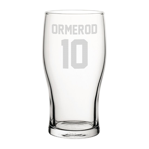 Blackpool Ormerod 10 Engraved Pint Glass