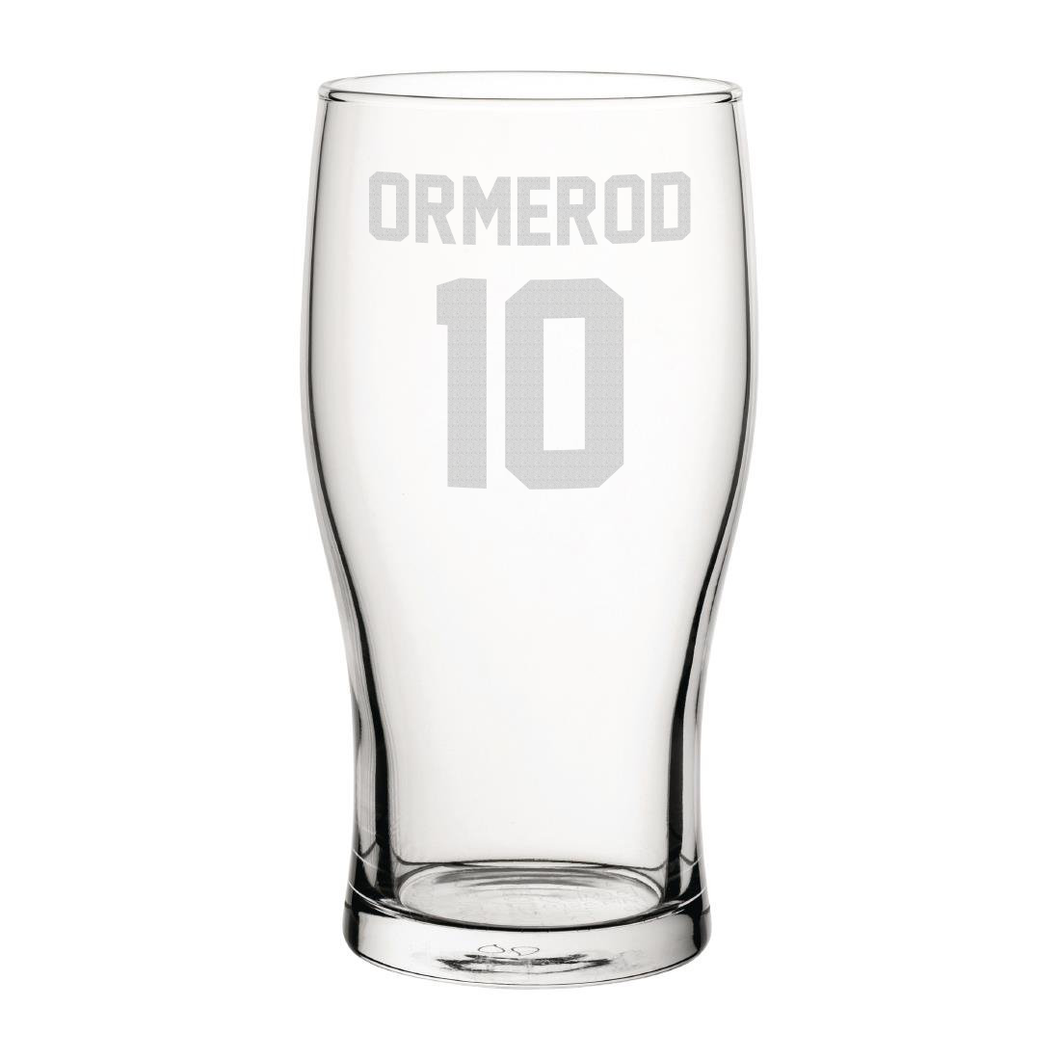 Blackpool Ormerod 10 Engraved Pint Glass-Engraved-The Terrace Store