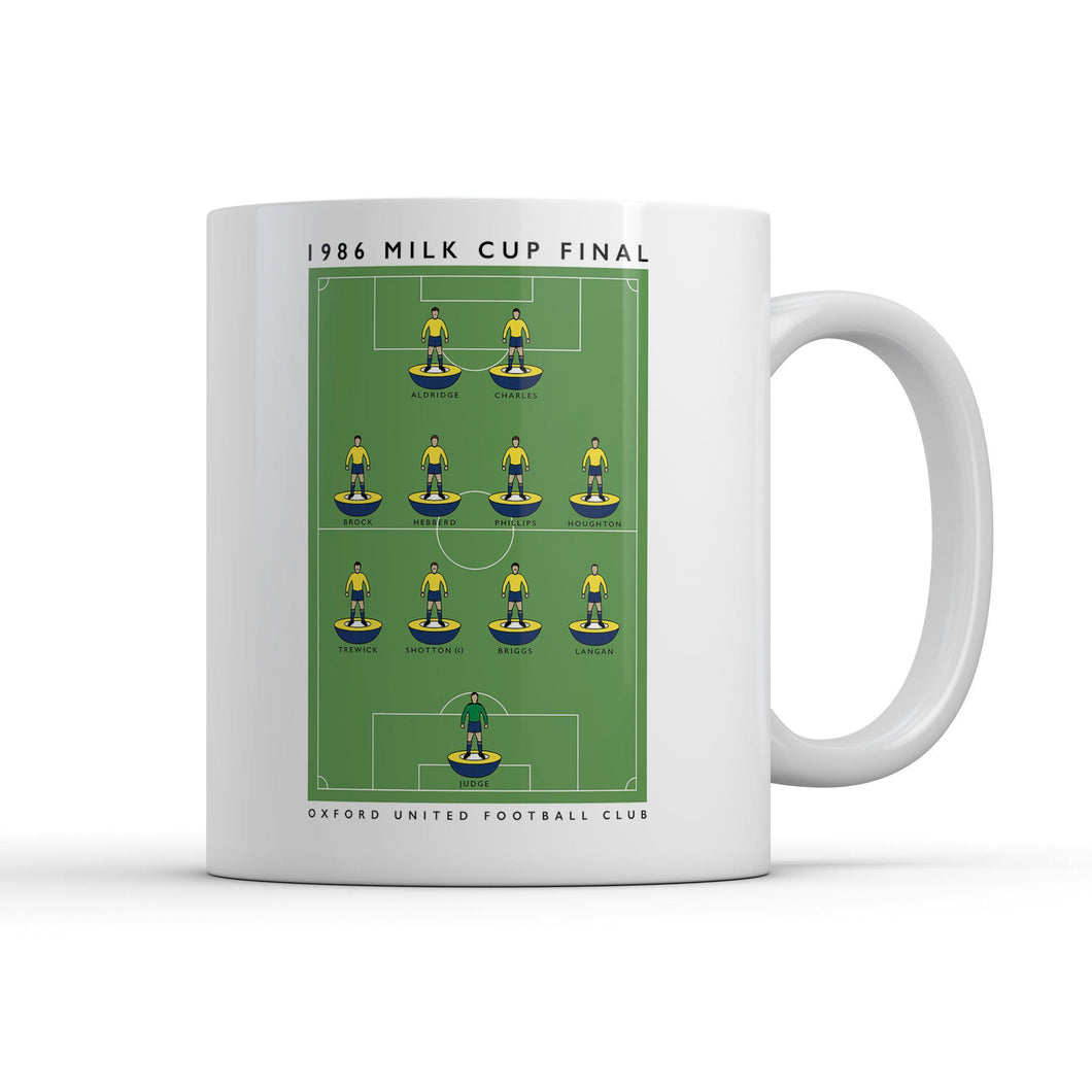 Oxford United Milk Cup Mug-Legends Mug-The Terrace Store
