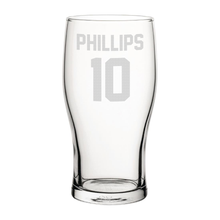 Load image into Gallery viewer, Sunderland Phillips 10 Engraved Pint Glass-Engraved-The Terrace Store