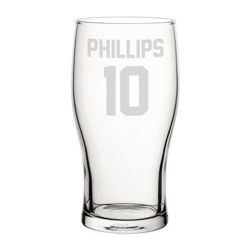 Sunderland Phillips 10 Engraved Pint Glass