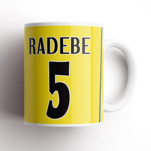 Leeds Radebe 2001 Champions League Kit Mug-Mugs-The Terrace Store