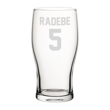 Load image into Gallery viewer, Leeds Radebe 5 Engraved Pint Glass-Engraved-The Terrace Store