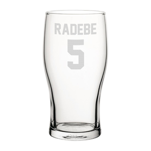 Leeds Radebe 5 Engraved Pint Glass-Engraved-The Terrace Store