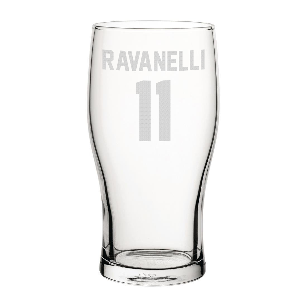 Middlesbrough Ravanelli 11 Engraved Pint Glass-Engraved-The Terrace Store