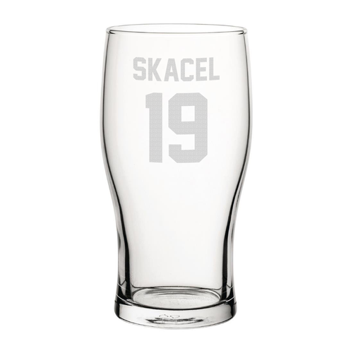 Hearts Skacel 19 Engraved Pint Glass