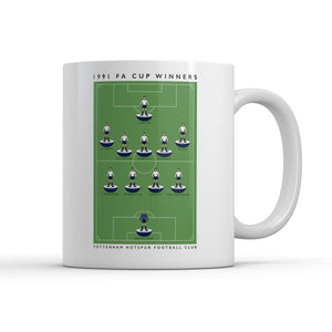 Spurs 1991 FA Cup Mug-Legends Mug-The Terrace Store