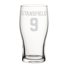 Load image into Gallery viewer, Exeter Stansfield 9 Engraved Pint Glass-Engraved-The Terrace Store