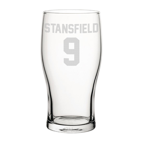 Exeter Stansfield 9 Engraved Pint Glass