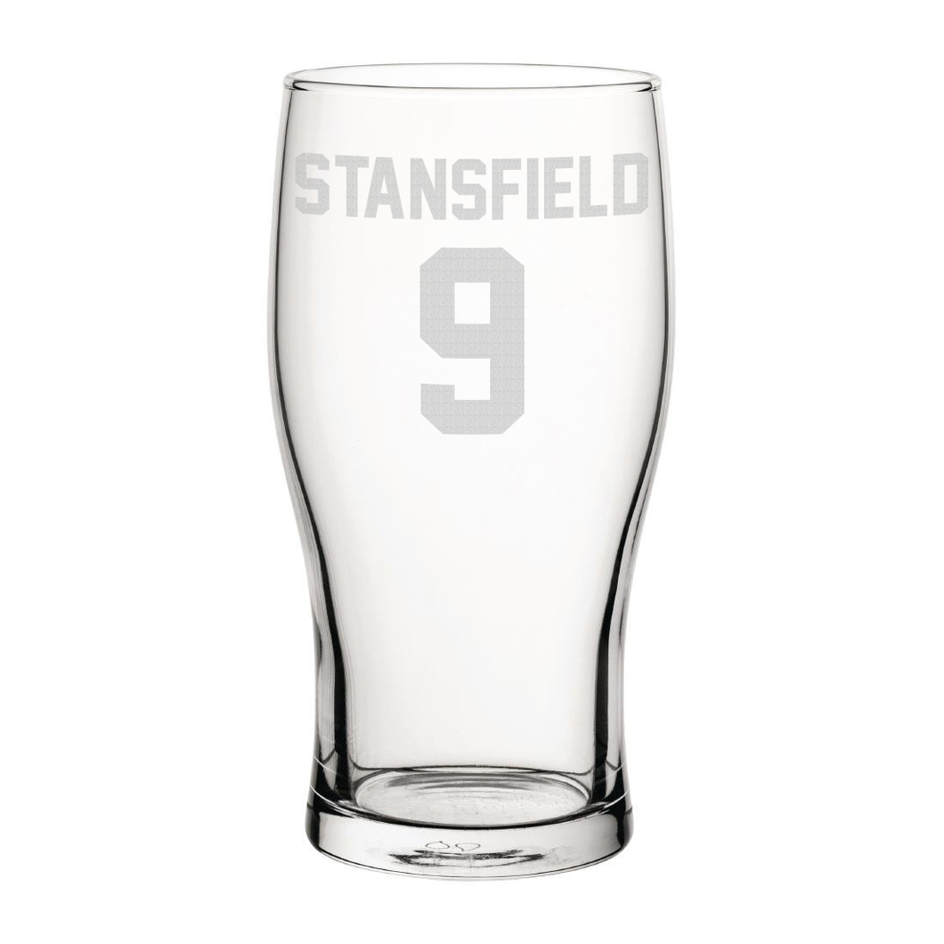 Exeter Stansfield 9 Engraved Pint Glass-Engraved-The Terrace Store